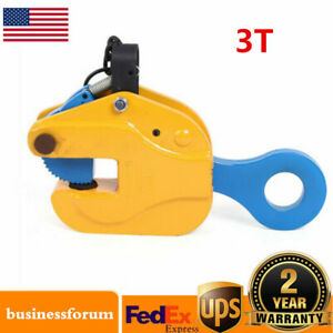 3 Tons Industrial Vertical Plate Lifting Clamp Steel W Lock Heavy Duty Usa Sale