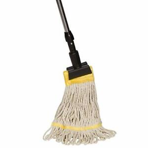 Tidy Tools Industrial Grade String Mop With Extendable Metal Handle And Jaw Clam
