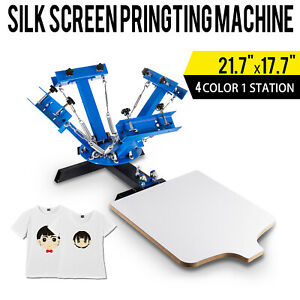 Diy 4 Color 1 Station Silk Screen Printing Pressing Machine Screening Printer