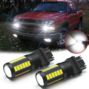 3157 Bright White 5630 smd Led Bulbs Daytime Running Lights Drl For Chevrolet
