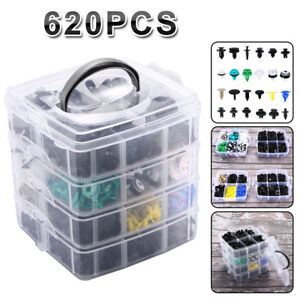 24 Kinds 620 Pcs set Plastic Auto Fasteners Car Bumper Fender Repair Parts Clips