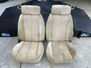 1982 1992 Camaro Custom Cloth Bucket Seats Iroc Z28 Firebird 1985 1986 3rd Gen