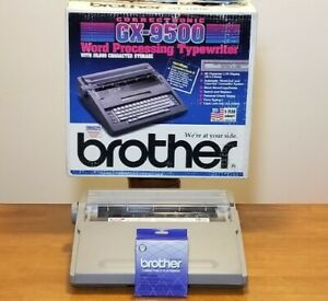Brother Electric Correctronic Typewriter Gx 9500 In Box W Cover New Ribbon