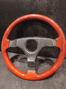 Selm Steering Wheel 3 Spoke Wooden Rare Vintage very Good Condition