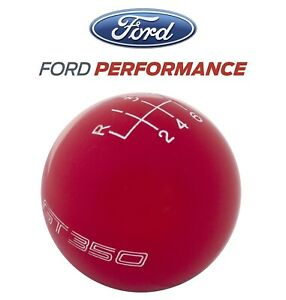 2016 2019 Shelby Gt350 Ford Performance 6 Speed Gear Shifter Shift Knob Red