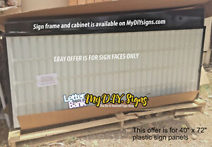 40 X 96 V3 Face Panels W track For Portable Roadside Readerboard Marquee Signs