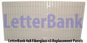 Two 48 X 96 V3 Face Panels W track For Portable Roadside Readerboard Signs