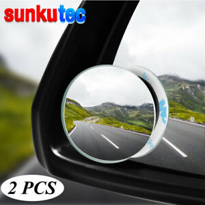 Universal 2x Rear Side View Blind Spot Mirror Car Auto 360 Wide Angle For Car