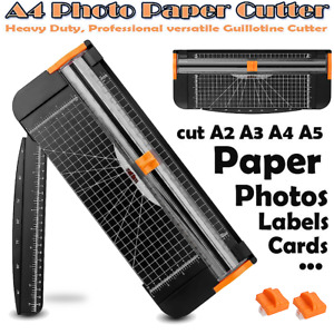 12 A4 Photo Paper Cutter Guillotine Trimmer Cutting Tool Office Art Heavy Duty