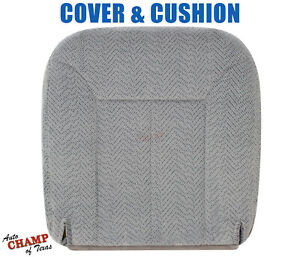 1995 1999 Chevy Tahoe Suburban driver Side Bottom Cloth Seat Cover cushion Gray