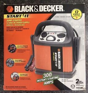 Black Decker Start It Jump Starter 12 Volt Dc Power Supply Open Box