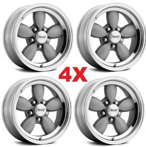17x8 Wheels Rims Gray Grey Magnesium Us Mags Standard Polished C10 Torq