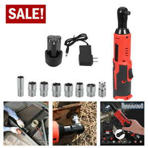 18v Cordless 3 8 Electric Ratchet Impact Wrench Tool W Battery Charger Sets
