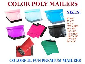Poly Mailers Plastic Envelopes Shipping Bags Empire Mailers 2 5mil Color Premium