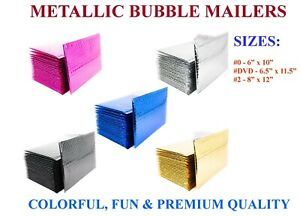 Color Metallic Bubble Mailers Padded Envelopes Foil Protective Packaging Couture