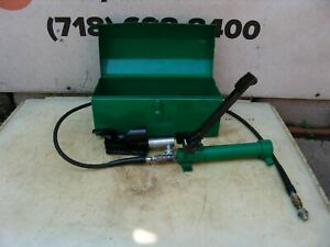 Greenlee 800 Cable Bender With Foot Pump 250 1000 Kcmil Capacity Works Great 3