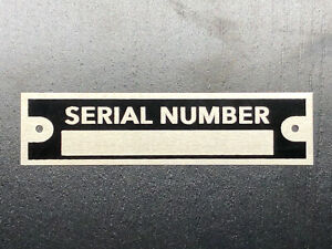 1 Serial Plate Blank Vin Number For Car Truck Trailer Frame Plate Id Tag