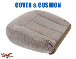 1995 1999 Chevy Tahoe Suburban Driver Side Bottom Cloth Seat Cover Cushion Tan