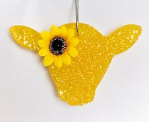 Sunflower Cow Car Freshener Handmade A Thoursand Wishes Scent