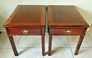 Pair Of Hickory Chair Co James River Plantation Colection Side End Table