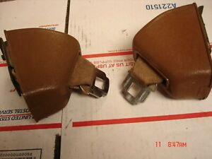 1971 Chevelle 442 Gs Deluxe Front Seat Belt Retractors Brown Hamill 43e71 43e71