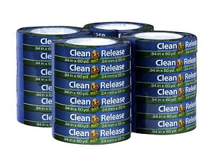 Duck Brand Clean Release Painters Tape 1 Inch X 60 Yards Blue Pack Of 24