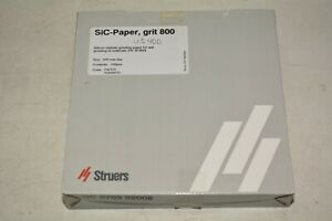 Struers Inc 40400010 Grit 800 Sic paper 200mm Diameter box With 100pcs 3
