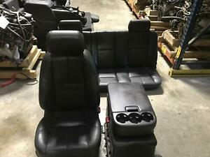 Chevrolet Silverado 1500 Extended Cab Complete Seat Set Black Leather 07 09