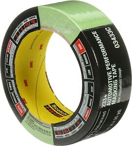 3m 03433 One Roll 233 Green Automotive Performance Masking Tape 1 41 X 35 Yds