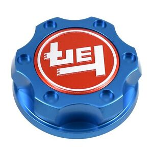 Blue Oil Filler Engine Cap Racing Billet Teq Emblem For Toyota Scion Lexus