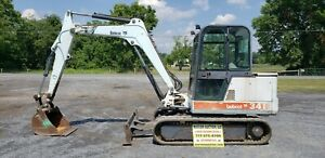 1999 Bobcat 341 Mini Excavator Just Serviced Cab W heat Ready To Go To Work