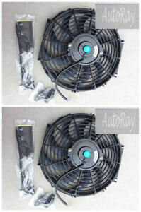 2pc 12 12v 12 Inch 12 V Thermo Radiator Cooling Fan Mounting Kits Curved