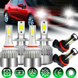 For Mazda 3 2004 2005 2006 6x Combo H7 9005 H11 Led Headlight Fog Light Bulb Kit