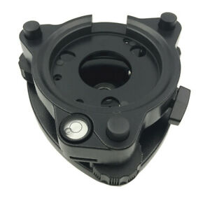 New Black Tribrach Without Optical Plummet For Total Station Gps Three jaw