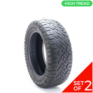 Set Of 2 Used 275 55r20 Goodyear Wrangler Duratrac 113s 8 5 32