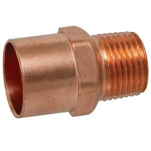 New Everbilt 3 4 In Copper Pressure Cup X Mip Male Adapter Fitting