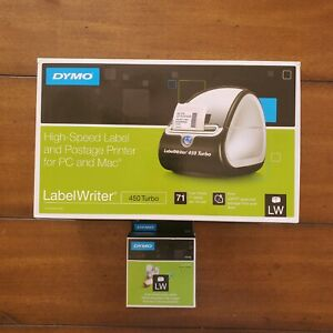Dymo Labelwriter 450 Turbo Thermal Label Printer Black W Extra Small Labels