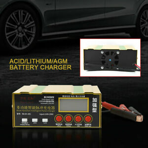 Automatic 12v 24v 6 200ah Lead Acid lithium agm Battery Charger Pulse Automotive