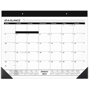 At a glance Refillable Monthly Desk Pad Calendar 21 3 4 X 17 Sk220021