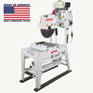 Sencore 20 Masonry Gas Table Saw 9 0 5 Hp Honda Motor Made In America