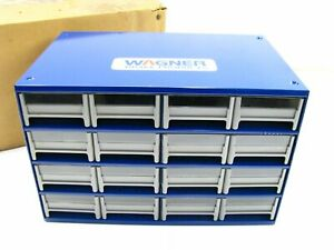 New Wagner Metal Small Parts Organizer Bins 12 Drawer Bd 061605 000