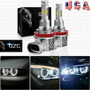 2x For Bmw E92 H8 Cree Led Angel Eyes H9 H11 Halo Ring Light Bulbs Hid 6000k 80w