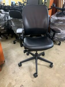 Steelcase Leap V2 Office Chair Black Leather