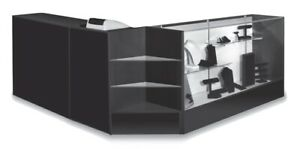 Combo 48 Led Light Showcase 48 Counter 24 Cash Well Black Assembled Us Made