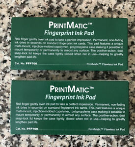 Sirchie Printmatic Flawless Fingerprinting Ink Pads Pfp7006 1 4 X 3 lot Of 2