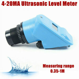 Ultrasonic 4 20ma Tank Water Level Gauge Indoor Temp Liquid Indicator Dc 24v