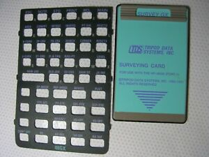 Tds Survey Gx Surveying Card With One Overlay For Use With The Hp 48gx