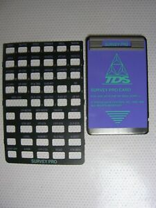 Tds Survey Pro Card With Overlay For The Hp 48gx Version 6 2