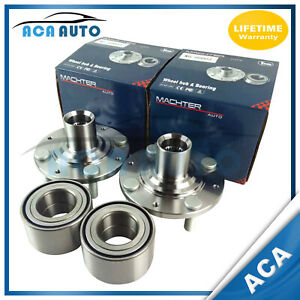 Wheel Hub Bearing Assembly Set Front For Civic With No Abs 1992 2000