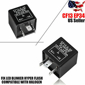 Turn Signal Hazard Led Flasher Relay Cf13 3pin No Fast Hyper Flash Blinker 3 Pin
